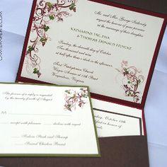 Vine vineyard theme wedding invitation | custom paper | Pinterest ...