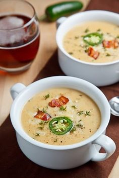 Jalapeno Beer Cheese Soup- very good! My whole family loved it! The directions are annoyingly written (in my opinion), however the result is yummy. Not spicy at all. I'd add another jalapeno or 2 and maybe even some potatoes next time.