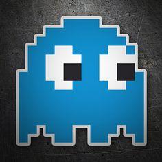 Pegatinas: Phanton Blue #friki #TeleAdhesivo Bike Stickers, Laptop Stickers, Graffiti Doodles, Cartoon Tattoos, Game Icon, Line Tattoos, Pin And Patches, Video Game Art, Easy Paintings