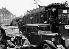 Tramwaj linii 6 jadący w kierunku Cmentarza Bródnowskiego w Warszawie, przed 1939, fot. n.n., Narodowe Archiwum Cyfrowe