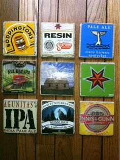 Katherine's Crafts: Beer Box Coasters