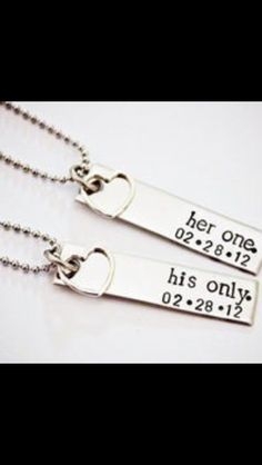 "Awesome idea for a couple tattoo, but i would do ""my one"" and ""my only"" instead"