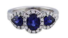 3 Stone Sapphire Ring