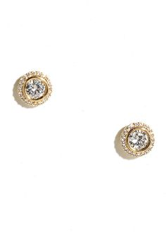 Realized Potential Rose Gold Rhinestone Earrings To be Gold
