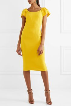 Dolce & Gabbana - Crepe Dress - Yellow - IT44
