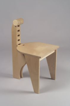 """Blongo"" Side Chair Maker: Leo Blackman, born 1956 Medium: Birch plywood"