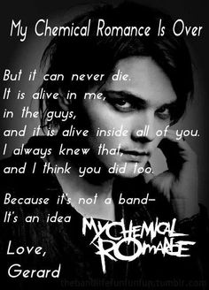 As long as there are hundreds of killjoys in the whole world there will be a my chemical romance alive in us and the band I hope they know that no matter what happens there will still be killjoys and a mcr and how Much we still love them