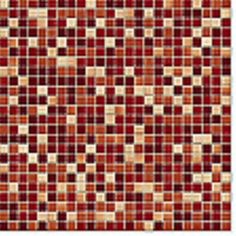 Red mosaic tile - we have a niche in our main hallway that I'm going to tile and then have one of our wedding photos printed in black and white on canvas and hang in the niche.  We're trying to pick the tile right now, and we really like the red