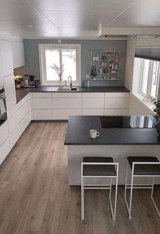Classic Kitchen, Minimal Kitchen, Modern Kitchen Design, Kitchen Designs, Home Decor Kitchen, Kitchen Interior, New Kitchen, Kitchen Ideas, Kitchen Living