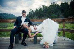 Wedding picture pose.