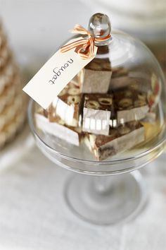 dessert in glass dome. event decor