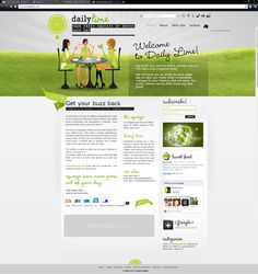 January 2012: Daily Lime website by ivdsgn