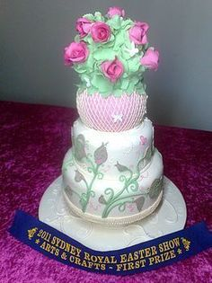 Wedding Cake not less then 2 tiers. First Prize at the Sydney Royal ...