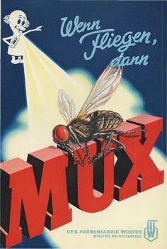 Kein Mux mehr? VEB FARBENFABRIK WOLFEN, East German Vintage Ad, GDR, DDR Werbung