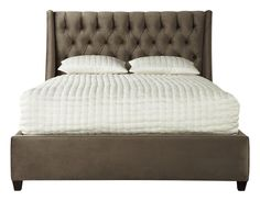 Recalling the glitz and glamour of the Golden Age of Hollywood, this enchanting update on a classic upholstered bed infuses your space with softness and sophistication.