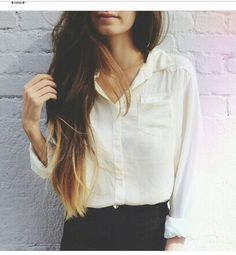 balayage, beautiful, blonde, blouse, brown, brunette, dip dye, fashion, fashionista, girl, hair, hair color, hairstyle, lips, longhair, ombre, outfit, pose, precious