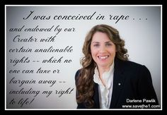New Hampshire's own Darlene Pawlik: Conceived in rape, now a pro-life speaker with Save the 1.