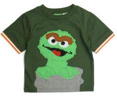 Toddler Boys t Shirt Graphic Short Sleeve Sesame Street Green Oscar sz 2t 3t nwt #SesameStreet #EverydayBirthday