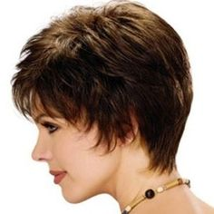 short feathered hair cuts for women with thick hair - Google Search