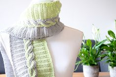 Ravelry: Twisted Cable Scarf pattern by A la Sascha