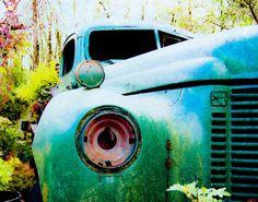 Green Truck Photograph Rustic Decor Wall Art Car by susannajarian, $23.00