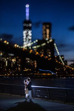 A super romantic wedding photography at DUMBO area in Brooklyn, New York City. Doing the engagement session at dusk and at night yields unique images. Night Engagement Photos, Fall Engagement, Engagement Shoots, Country Engagement, Wedding Couple Poses Photography, Nyc Wedding Photographer, Engagement Photography, Night Time Wedding, New York