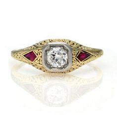 Leigh Jay Nacht Inc. - Art Deco Engagement Ring - R360-01