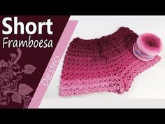 This Fabulous Crochet Short is light, comfortable and so easy to make! Perfect for wearing over your swimsuit. Shorts are always wanted for ladies Crochet Woman, Hand Crochet, Free Crochet, Bikinis Crochet, Crochet Shorts, Crochet Scarves, Crochet Clothes, Baby Blanket Crochet, Crochet Baby