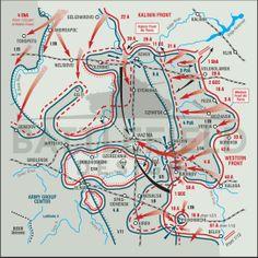 Battlefield map of the Rzhev-Viazma offensive (Helion Books)
