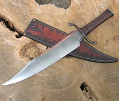 BBowie art knife from Wildertools by Rick Marchand