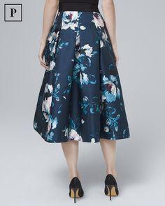 8c43ae8fc2544 Women s Petite Floral-Print Full Midi Skirt by White House Black Market
