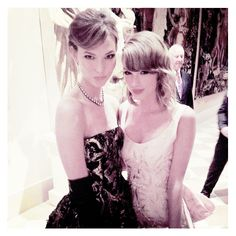 Karlie Kloss and Taylor Swift.