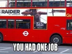 Best funny you had one job humor awesome Ideas Funny Sign Fails, Funny Jokes To Tell, Funny Signs, Funny Memes, Terrible Jokes, That's Hilarious, Funniest Memes, It's Funny, Videos Funny