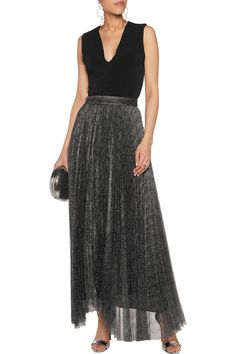 Shop on-sale Alice + Olivia Katz pleated metallic mesh maxi skirt. Browse other discount designer Skirts & more on The Most Fashionable Fashion Outlet, THE OUTNET.COM