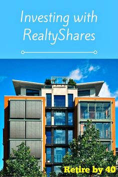 I'm diversifying our real estate investment with RealtyShares, a real estate crowdfunding platform. See how our investments are doing.  via @retireby40