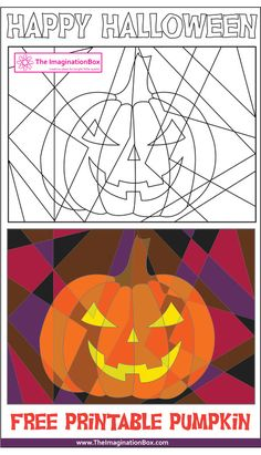The ImaginationBox: Halloween pumpkin free printable, make it as spooky as you can!