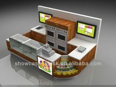 bakery kiosk design for sale crepes churros