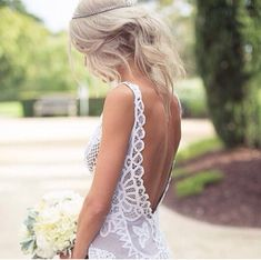 Backless wedding dresses ideas http://weddingdecorationshq.com/backless-wedding-dresses/