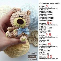 This Pin was discovered by Gay Crochet Teddy Bear Pattern, Crochet Doll Pattern, Crochet Patterns Amigurumi, Crochet Dolls, Easy Crochet Patterns, Easter Crochet, Crochet Bunny, Cute Crochet, Crochet Animals