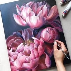 flowerYou can find Art party and more on our website. Flower Painting Canvas, Oil Painting Flowers, Flower Canvas, Flower Art, Canvas Art, Floral Wall Art, Arte Floral, Art Sketches, Art Drawings