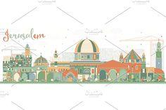 #Abstract #Jerusalem #Skyline by Igor Sorokin on @creativemarket