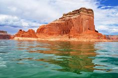 Lake Powell is a man-made reservoir on the Colorado river.  The lake, along with Horseshoe Bend and the notable Rainbow Bridge National Monument rock formation, is now part of the Glen Canyon National Recreation Area.
