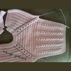 Adorable Baby Afghan Crochet P, This post was discovered by Müz, Oh the pretty baby sacque! Diy Crafts Knitting, Diy Crafts Crochet, Knitted Baby Cardigan, Knitted Heart, Pink Cardigan, Knit Vest, Baby Girl Cardigans, Baby Sweaters, Baby Afghan Crochet