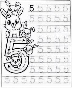 New System-Suitable Numbers Line Study - Preschool Children Akctivitiys Preschool Writing, Numbers Preschool, Kindergarten Math Worksheets, Learning Numbers, Preschool Printables, Preschool Learning, Preschool Activities, Montessori Math, Math For Kids