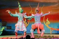 Thai Cultural Show Thai classical dance,Thai Classical Masked Dance at Nopparat Thai Classical Dance & Restaurant Bangkok Thailand
