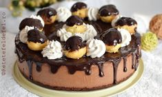 Sweets Recipes, Cookie Recipes, Mousse, Romanian Desserts, Profiteroles, Christmas Cupcakes, Candy Buffet, Something Sweet, Chocolate Desserts