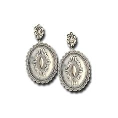 Plain Silver Concho Earrings - Southwest Indian Foundation Southwest... ($135) ❤ liked on Polyvore featuring jewelry, earrings, indian jewellery, indian silver jewellery, indian jewelry, indian earrings and earrings jewelry