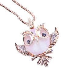 Wensltd Clearance! Women Crystal Necklace Jewelry Statement Pendant Charm Chain Choker Pink Owl *** Want additional info? Click on the image. (This is an affiliate link and I receive a commission for the sales) #ChokerNecklace