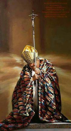 Juan Pablo ll💘 Catholic Prayers, Catholic Saints, Roman Catholic, Religious Pictures, Religious Art, Papa Juan Pablo Ii, Pope John Paul Ii, Paul 2, Blessed Mother