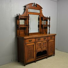 Edwardian Mahogany Sideboard Mirror Chiffonier Dresser Delivery Available